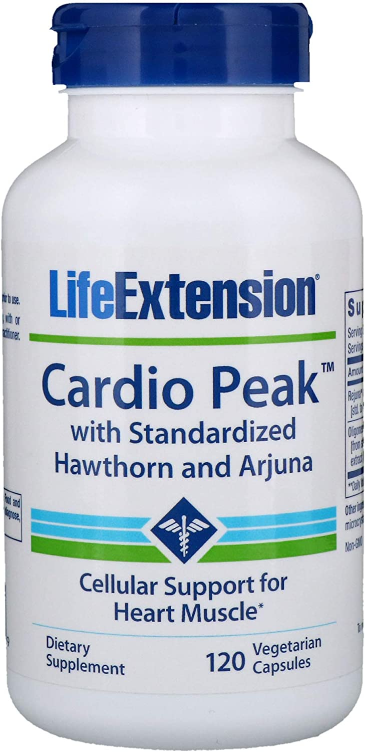 Life Extension – Cardio Peak with Standardized Arjuna Hawthorn – 120 Vcaps Pack of 2