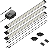 parlat LED Unterbau-Leuchte SIRIS, flach, je 50cm, 100cm Kabel, 400lm, warm-weiß, 3er Set
