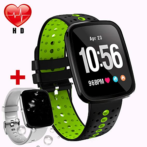 [Upgrade]Waterproof Smart Watch Fitness Tracker with Heart Rate Monitor Blood Pressure Watch Men Women Birthday Electronic Gifts Outdoor Sport Watch ...