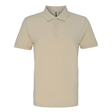 Asquith & Fox Asquith and Fox Mens Polo, Marfil (Natural 000), X ...