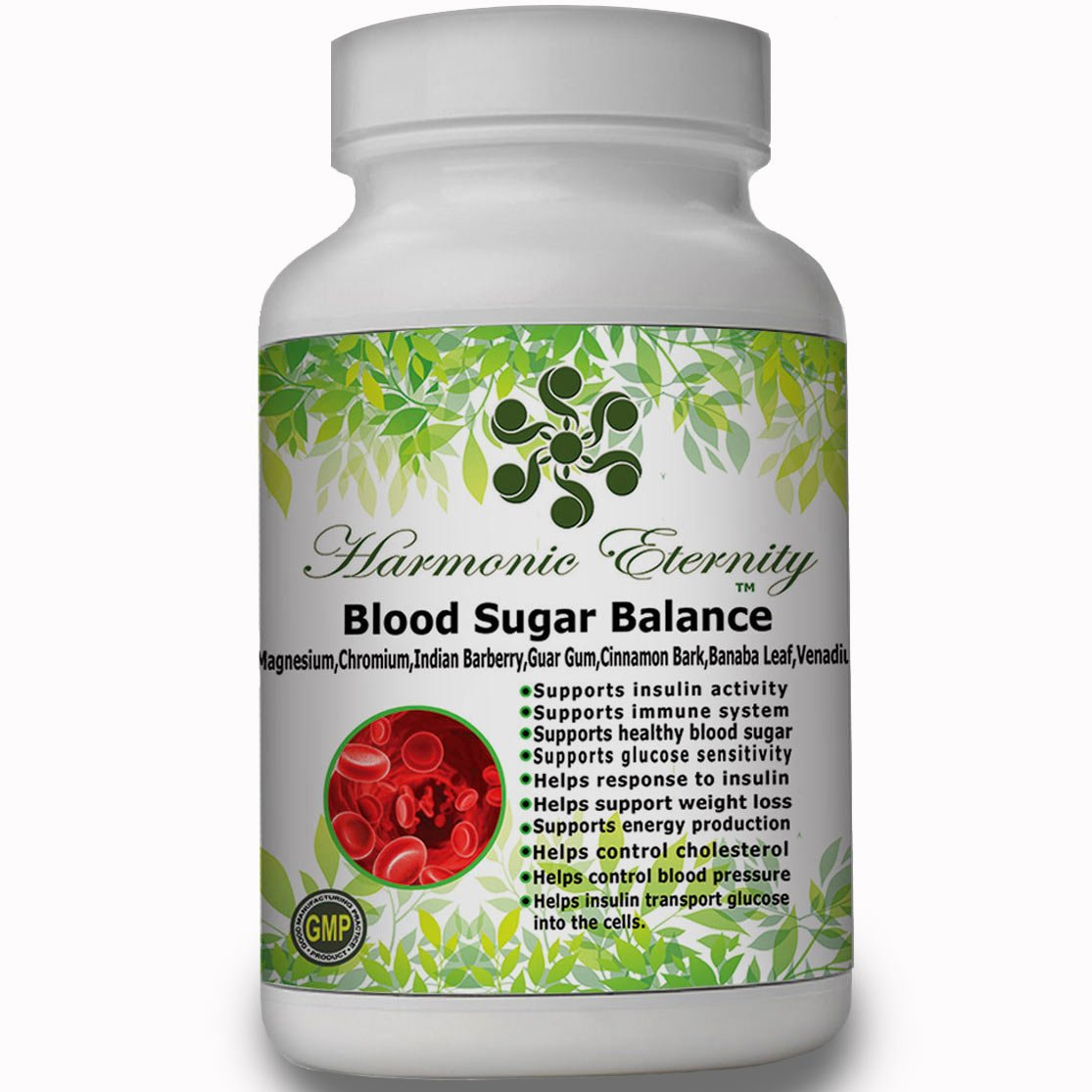 Blood Sugar Balance, The most complete blood sugar supplement with ADVANCED FACTORS like vitamins d3, b6,b12,biotin,zinc,magnesium,manganese,chromium,barberry,cinnamon,gymnema,alpha-lipoic acid'' by Harmonic Eternity