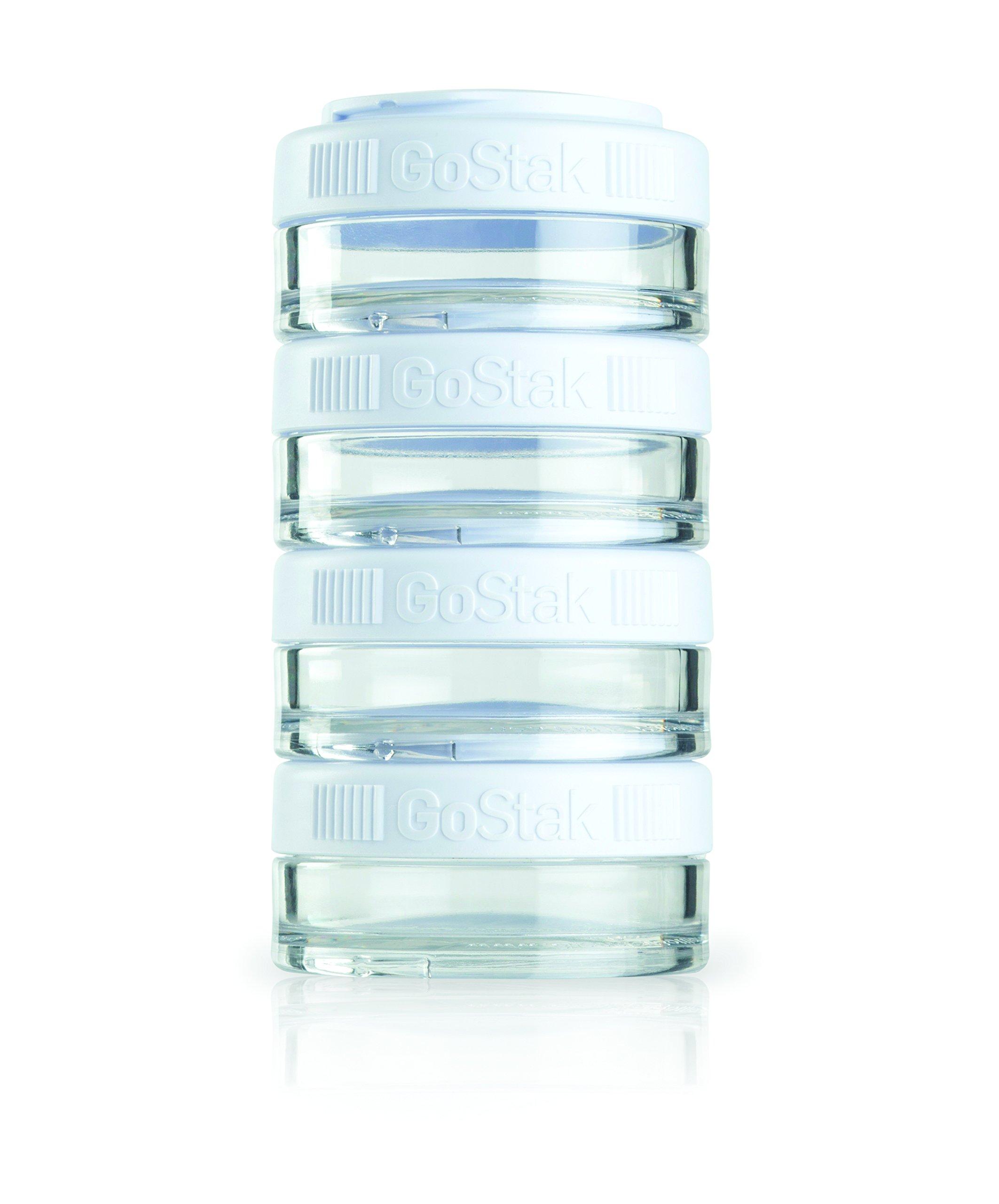 BlenderBottle GoStak Twist n' Lock Storage Jars, 40cc 4-Pak, White