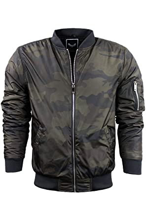 df009144a Mens Camo Bomber Jacket by Brave Soul 'Herrera' Padded Lightweight ...