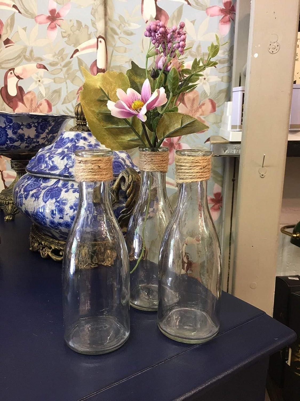 Hunky Dory Gifts Conjunto de 3 floreros de la Botella de ...
