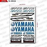 KUNGFU GRAPHICS カンフー グラフィックス YAMAHA ヤマハ レーシングスポンサーロゴ マイクロデカールシート (ブルー)