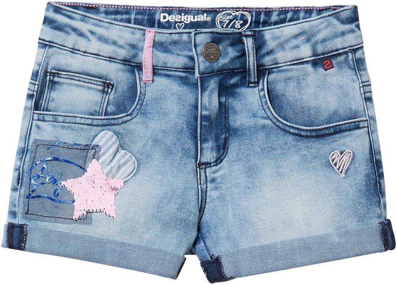 Desigual Denim Patch Shorts Maestre Pantalones Cortos para