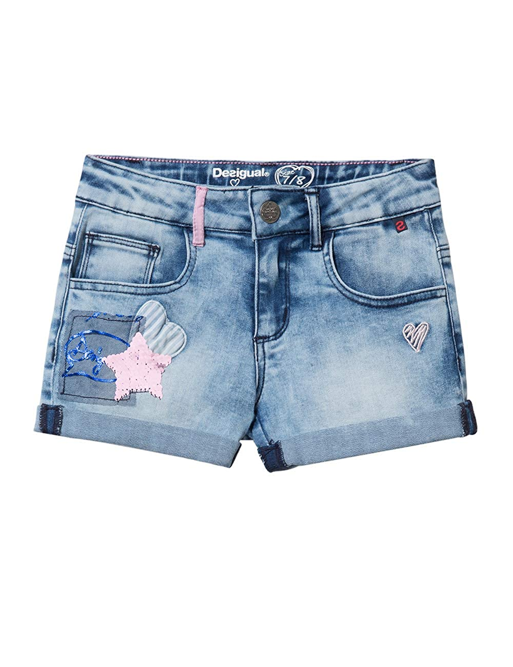 Desigual Girl Short Trousers (Denim_maestre), Pantalones ...