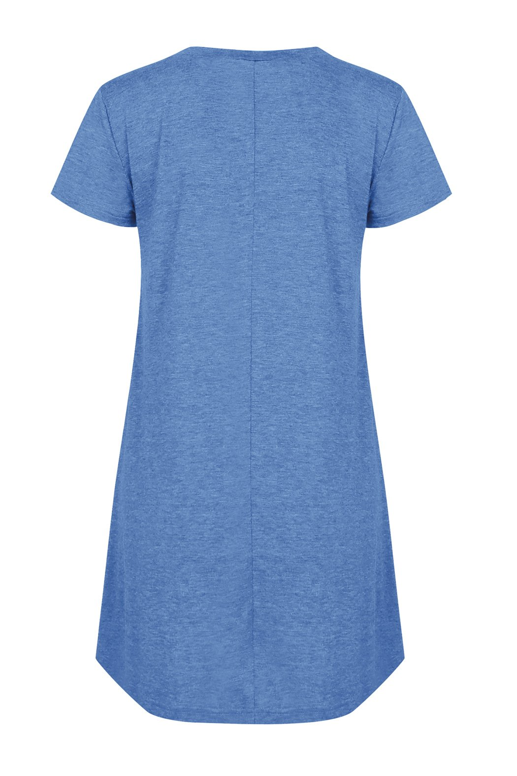 Rdfmy Women\'s Lace Short Sleeve Tops Casual Round Neck Top Blouses Blue XXL