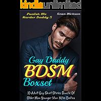 Gay Daddy BDSM Boxset 5: 10 Adult Gay Short Stories Bundle Of Older Man Younger Man M/m Erotica (Punish Me Harder) book cover