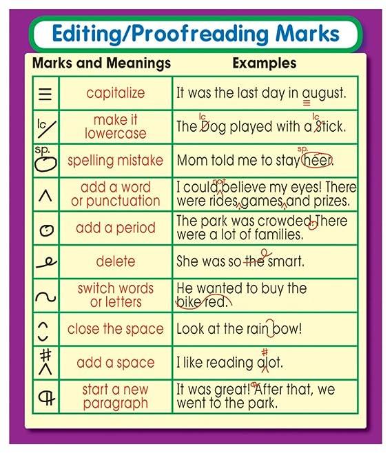 Amazon Carson Dellosa Editingproofreading Marks Stickers