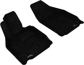 3D MAXpider Front Row Custom Fit Floor Mat for Select Mazda6 Models Classic Carpet Tan