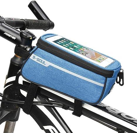 Jiasj Bolsa Bicicleta Cuadro, Impermeable Bolsa de Almacenamiento ...