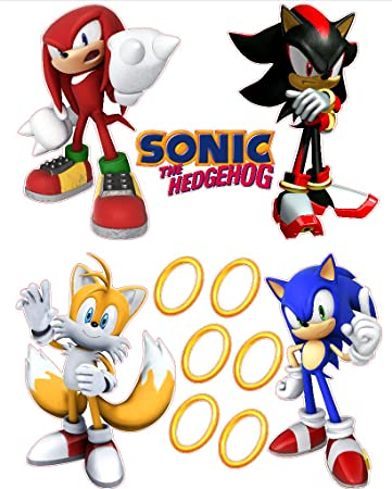 Delightful Sonic The Hedgehog Tails, Knuckles, And Shadow Removable Wall Stickers Set Part 4