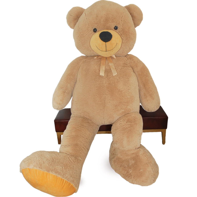 VERCART Riesen Teddybär Kuschelbär 200 cm groß Plüschbär Kuscheltier samtig weich - zum liebhaben