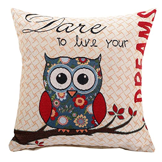 Elegante Libra Home Decor algodón lino sofá cojín jacquard ...