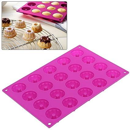 OUNONA 20 Minimoldes para moldes de silicona – molde concéntrico, color rosa