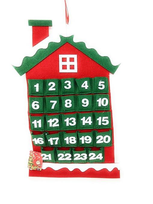 Calendario Dellavvento In Feltro.Calendario Dell Avvento Casetta In Feltro