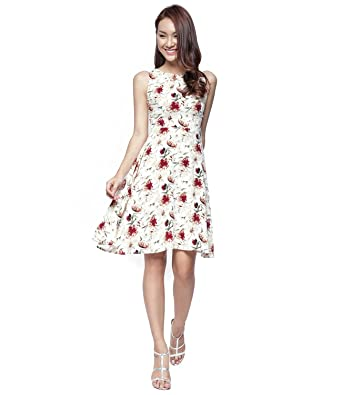 White Dress with Flowers