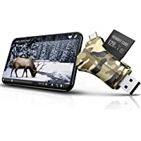 Trail Camera Viewer SD Card Reader - 4 in 1 SD and Micro SD Memory Card Reader to View…