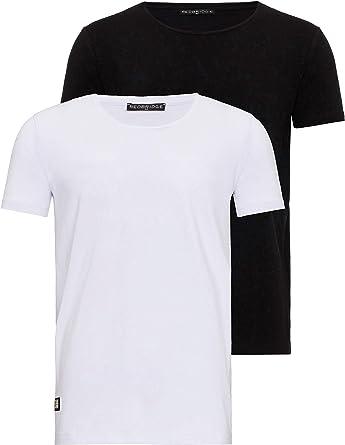 Red Bridge Paquete de 2 Camisetas básicas de Hombre de Cuello ...