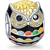 NINAQUEEN - Weisheit - Damen Charm 925 Sterling Silber Nickelfrei Beads