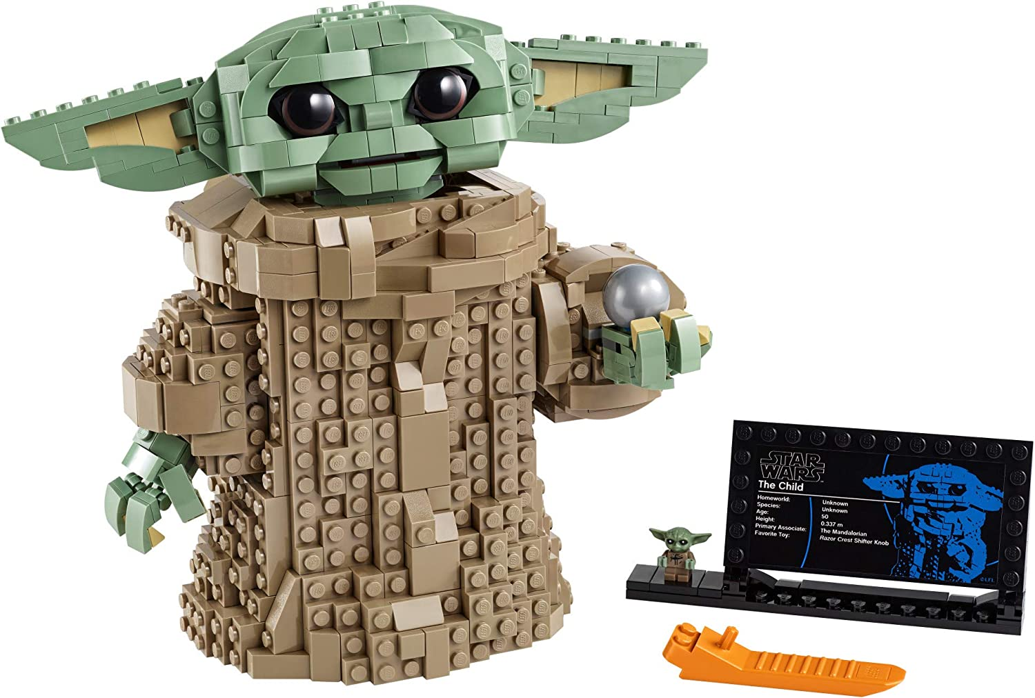 LEGO Star Wars: The Mandalorian The Child 75318 Building Kit; Collectible Buildable Toy Model for Ages 10+, New 2020 (1,073 Pieces)