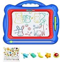 Geekper - Pizarra magnética de Dibujo para niños, 41 x 33 cm, con 5 Sellos y Pegatinas