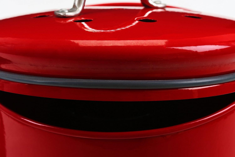 premier housewares compost bin with handle red amazoncouk kitchen u0026 home