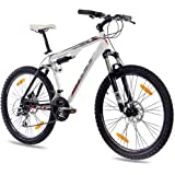 "26"" KCP MOUNTAINBIKE ALU FULLY FAHRRAD PUMP-2 mit 24 Gang SHIMANO ACERA & DISK weiss schwarz"