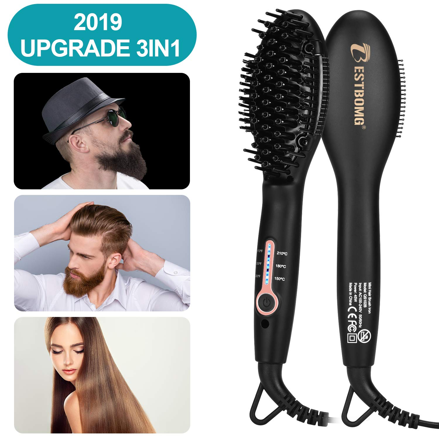 Ionic Beard Straightener Comb for men