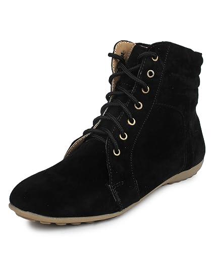 3bda4568bfdf6 BEONZA Women s Black Suede Boots-36-BZRSML002-1008-BL 6  Buy Online ...