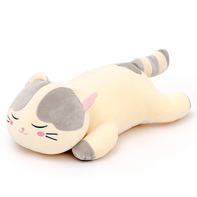 Lazada Plush Cat Very Soft Hugging Pillow Stuffed Kitty Animal Toy Gris 18