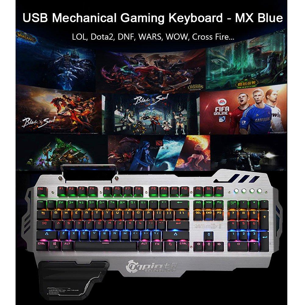 Normia Rita 104 klicken Mechanische Spiel Tastatur: Amazon.de ...