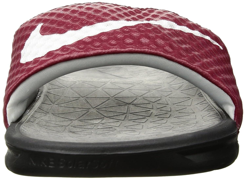 Nike Men s Nike Benassi Men Solarsoft Red/White black Sandal Team