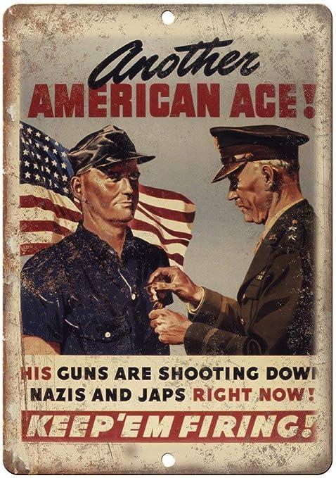 Shunry American Ace Placa Cartel Vintage Estaño Signo Metal ...