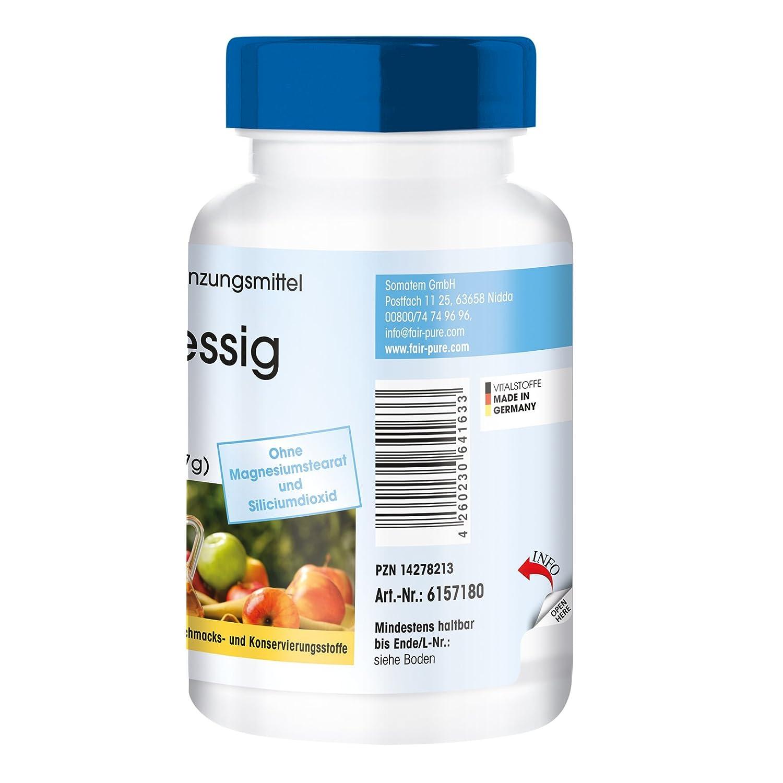 Vinagre de manzana 500 mg - 180 cápsulas veganas - con vitaminas - minerales - oligoelementos: Amazon.es: Salud y cuidado personal