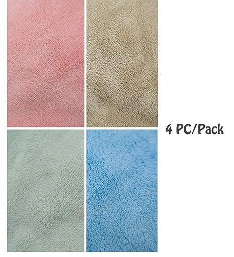 Ceqcin - Toallas de Mano para niños, 4 Unidades, absorbentes, para Colgar: Amazon.es: Hogar