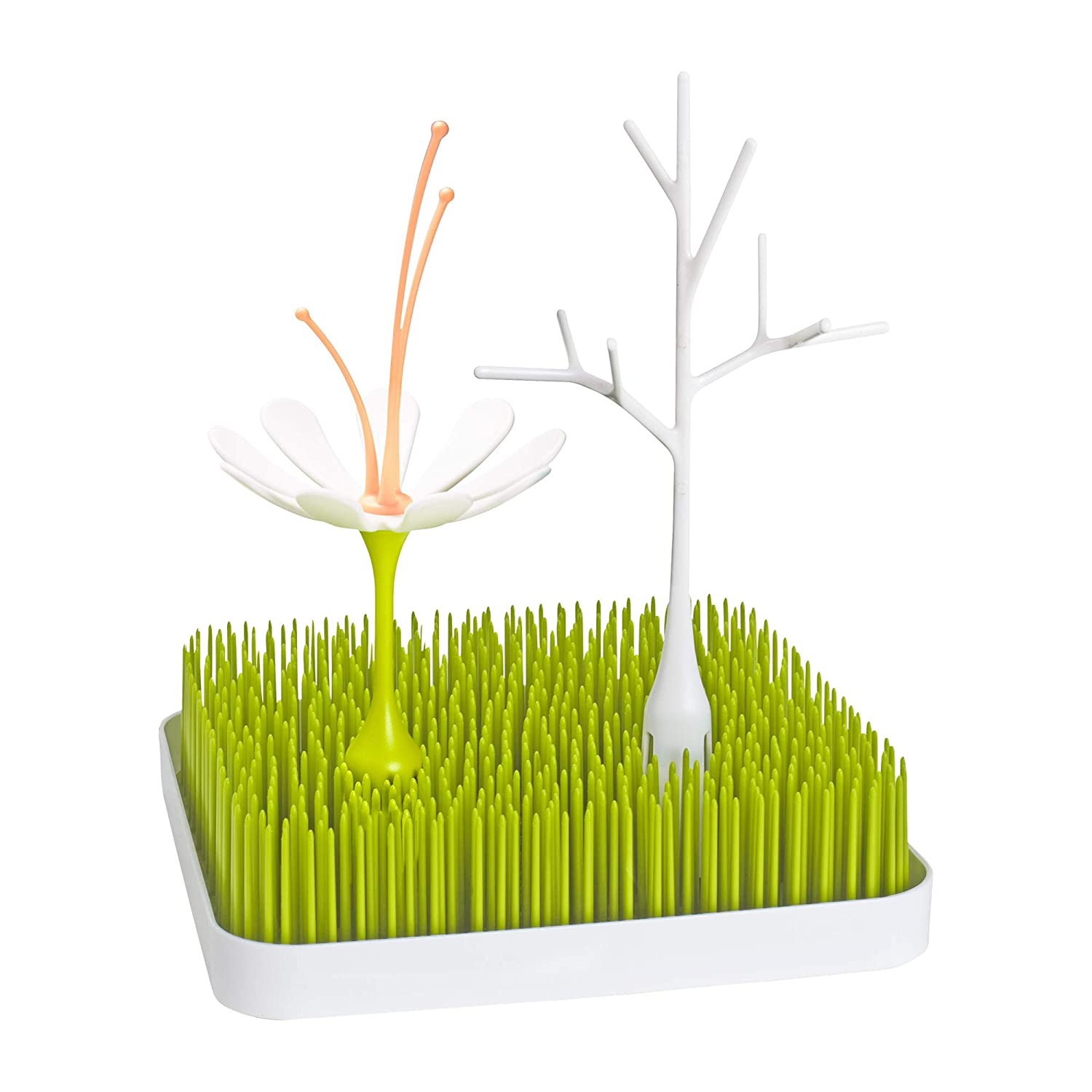 Boon Grass Countertop Baby Bottle Drying Rack with Stem & Twig Accessories