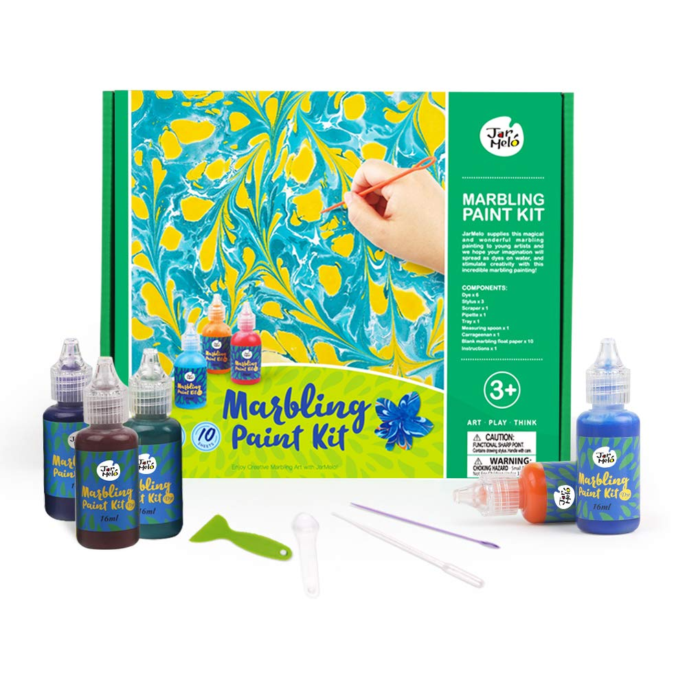 Jar Melo Marbling Painting Kit; Non-Toxic; Painting on Water; Creative Marbling Art Children LTD