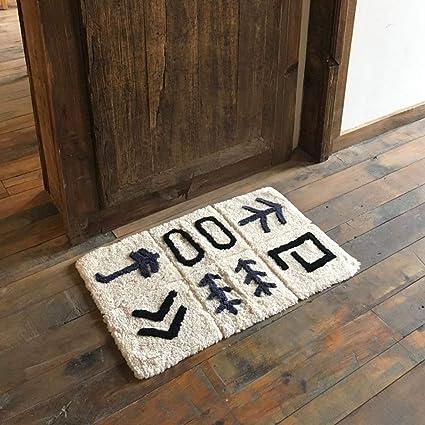 AB--carpet Colchonetas de algodón Colchones de baño Colchonetas Alfombras Antideslizantes absorbentes,45x70cm