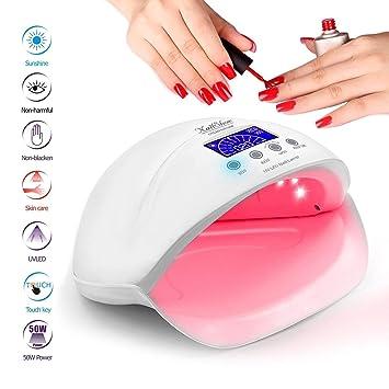UV LED Nail Lamp - NailShow 50W Led Nails Light for Fingernail & Toenail Curing Nail