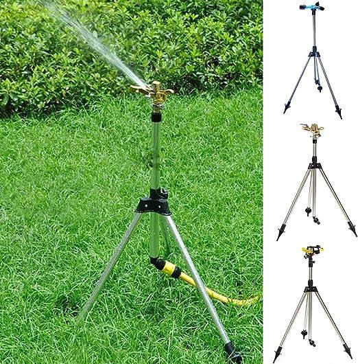 MElnN Aspersor de trípode Ajustable, Kit de riego automático para jardín, riego de Plantas de Acero Inoxidable: Amazon.es: Jardín