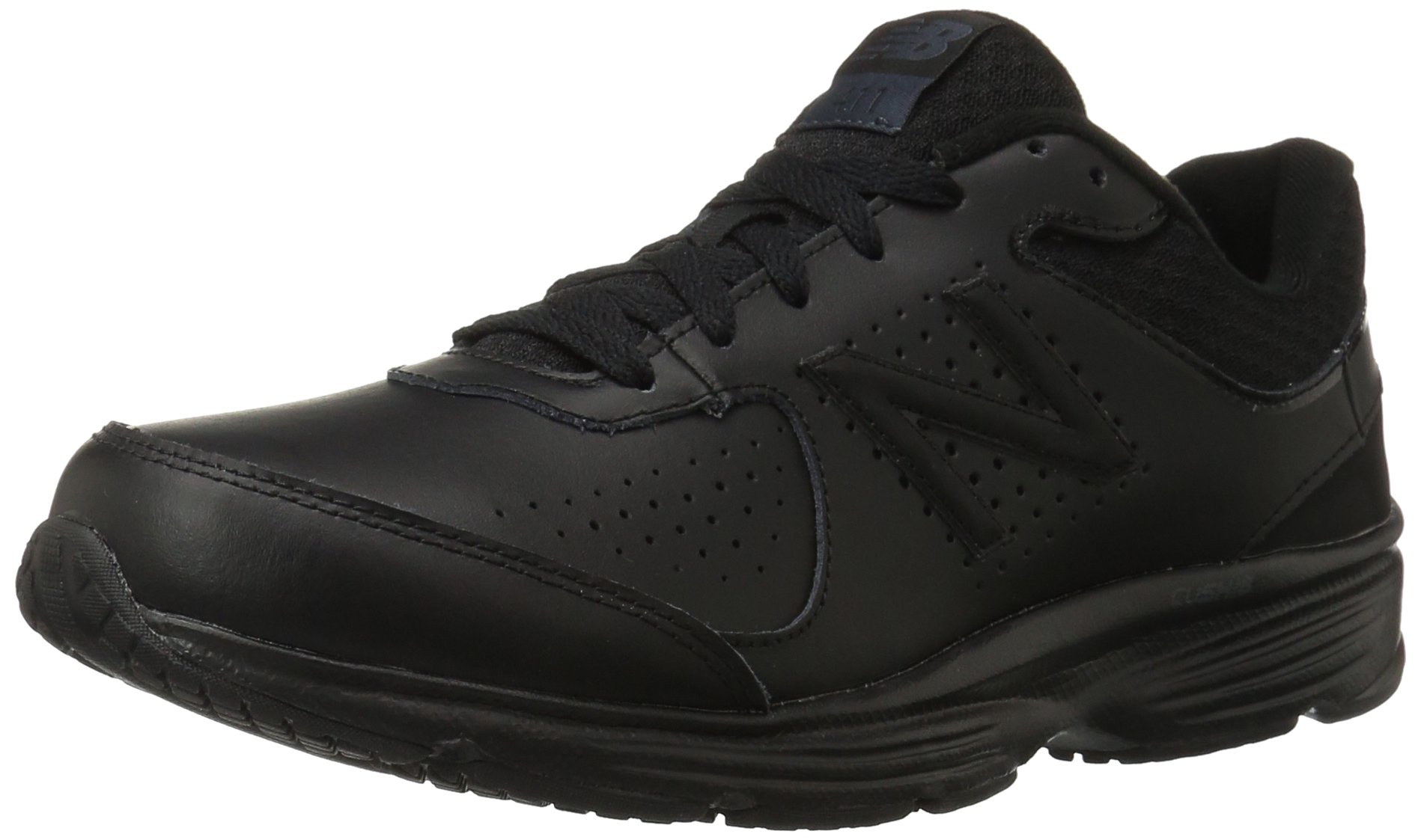 New Balance Men's MW411v2 Walking Shoe, Black, 11 2E US by New Balance