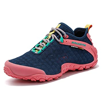 a784e1e9a GNEDIAE Para Hombre Mujer Botas de Senderismo Primavera y Verano de Ocio al  Aire Libre Zapatos de Deporte Zapatillas de Senderismo Cordones Trainer  Botas ...
