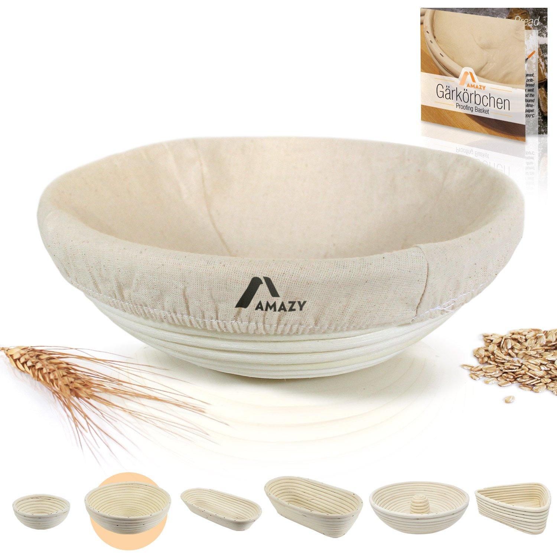 Amazy Banneton para pan / La ideal cesta para masa y fermentación de pan de mimbre