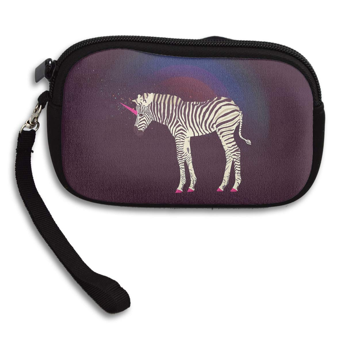 Magic Unicorn Zebra Coin Pouch Clutch Purse Wristlet Wallet Phone Card Holder Handbag