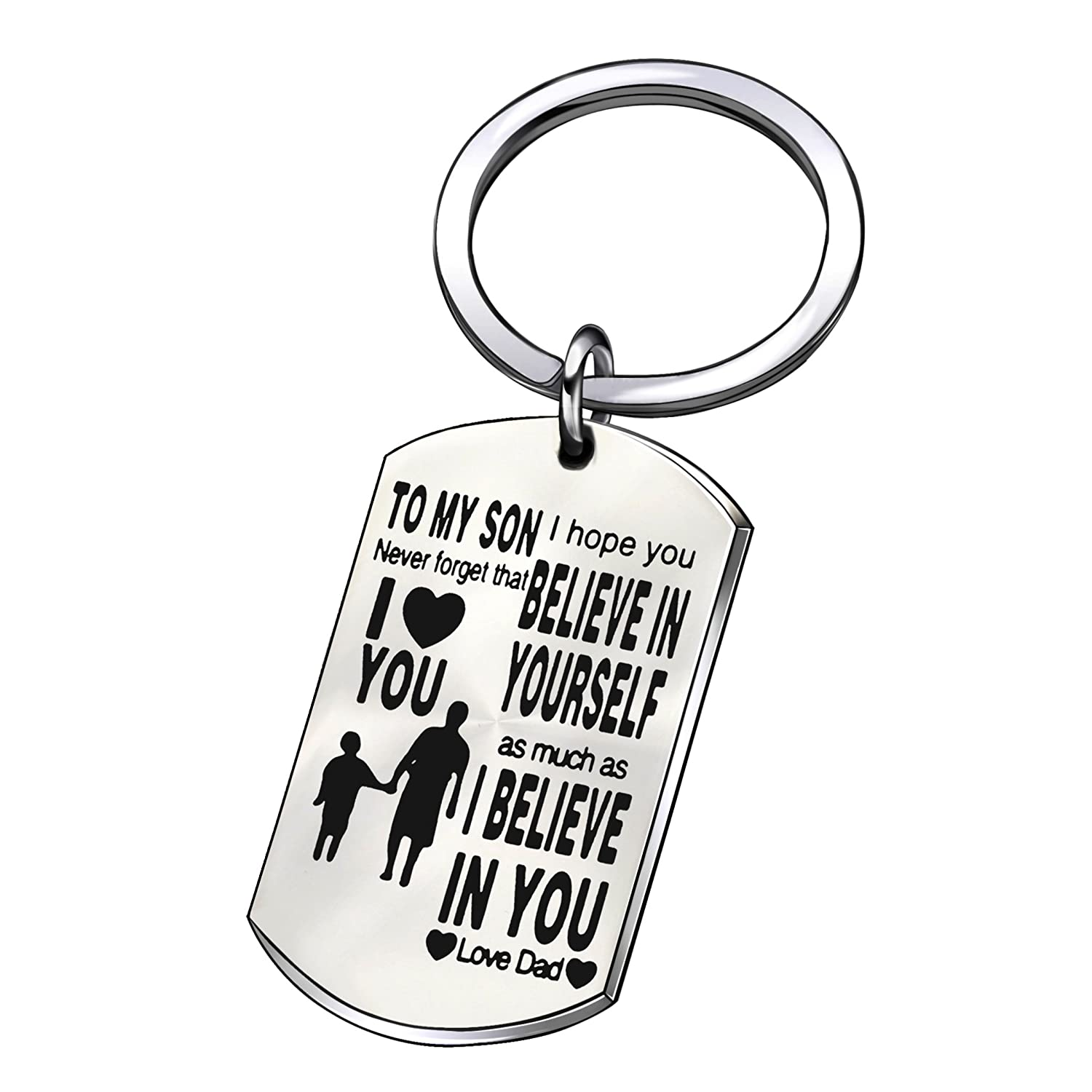Amazon com : Father Son Key Chain Son Gifts to My Son