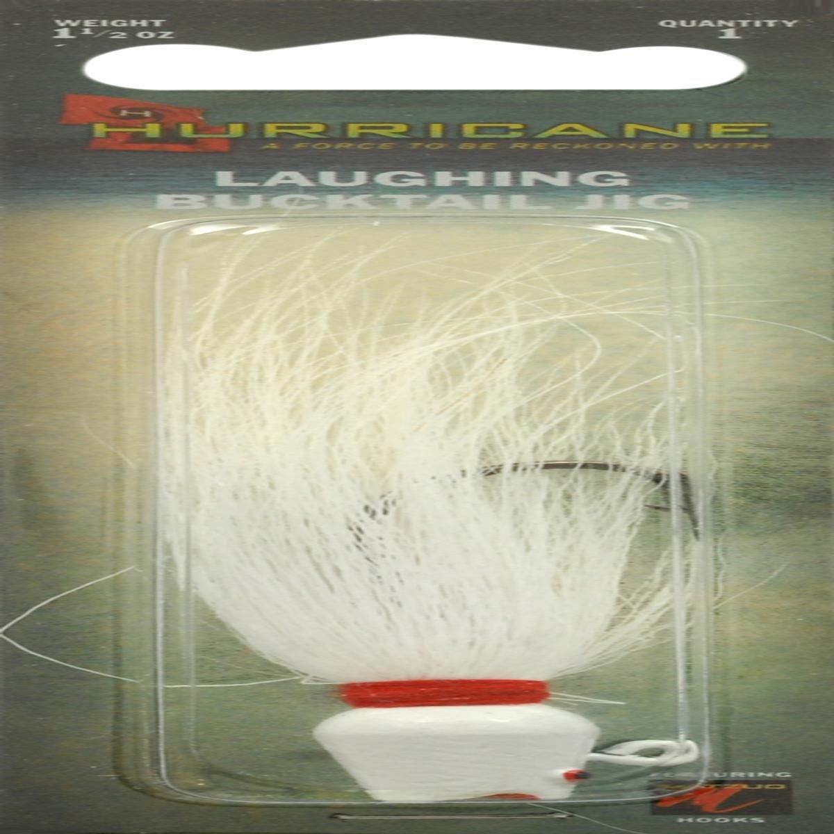 Hurricane Laughing Bucktail Jig, 1-1/2-Ounce, White