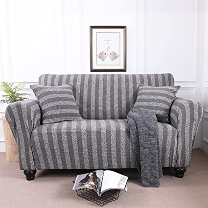 Genial DWu0026HX Stretch Knit Sofa Cover,1 Piece Cotton Couch Covers Slip Resistant  Furniture Protector