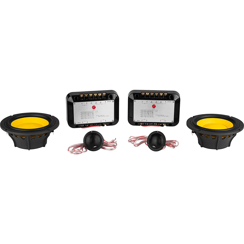 HiVi D620 6-1/2 2-Way Component Speaker Set